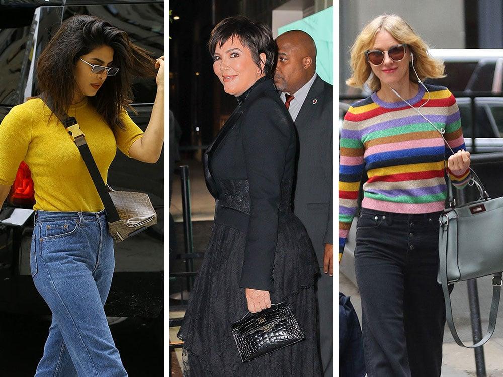 10 Celebridades 50+ e Suas Belas Bolsas